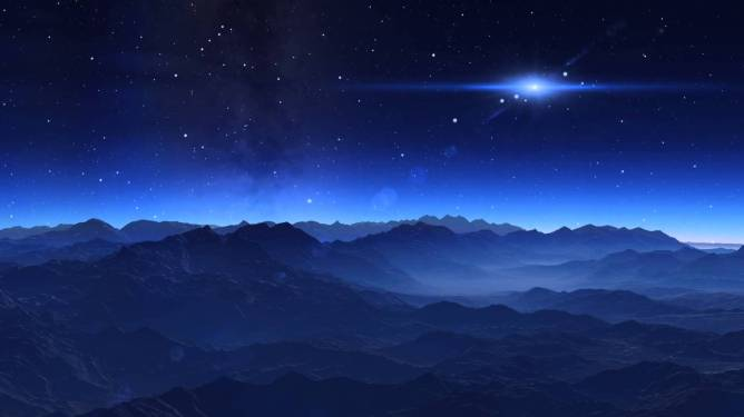 Pleiades - artist's impression of Alcyone